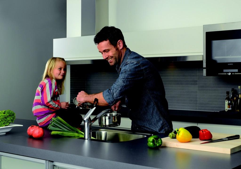 Ergonomische keuken kraan