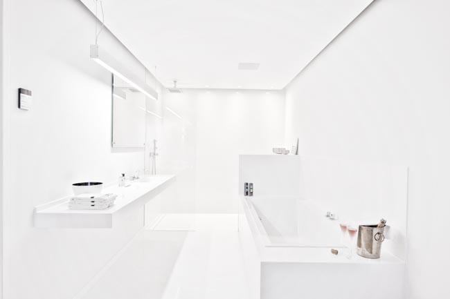 Badkamer met Silestone Blanco Zeus