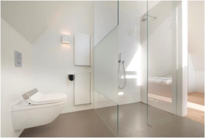 Jumbo-panelen laten badkamer groter lijken - Voorlichtingsburo Wonen