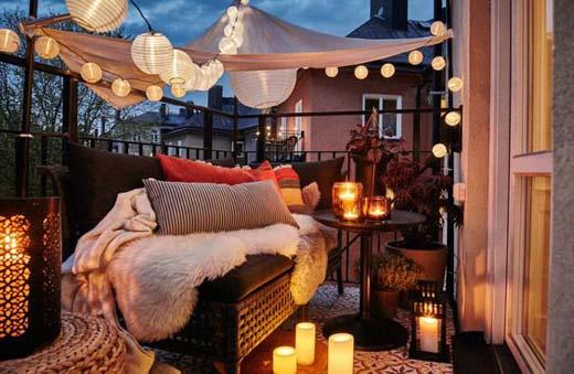 Balkon met sfeer
