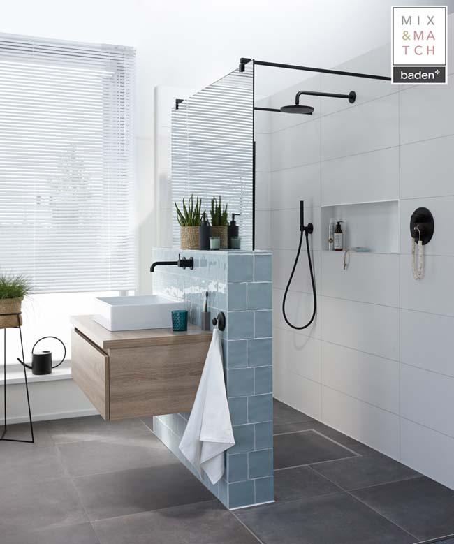Ruimtelijkheid in een kleine badkamer - Voorlichtingsburo Wonen