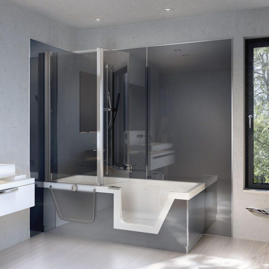 Badkamerwanden hoogglans acryl