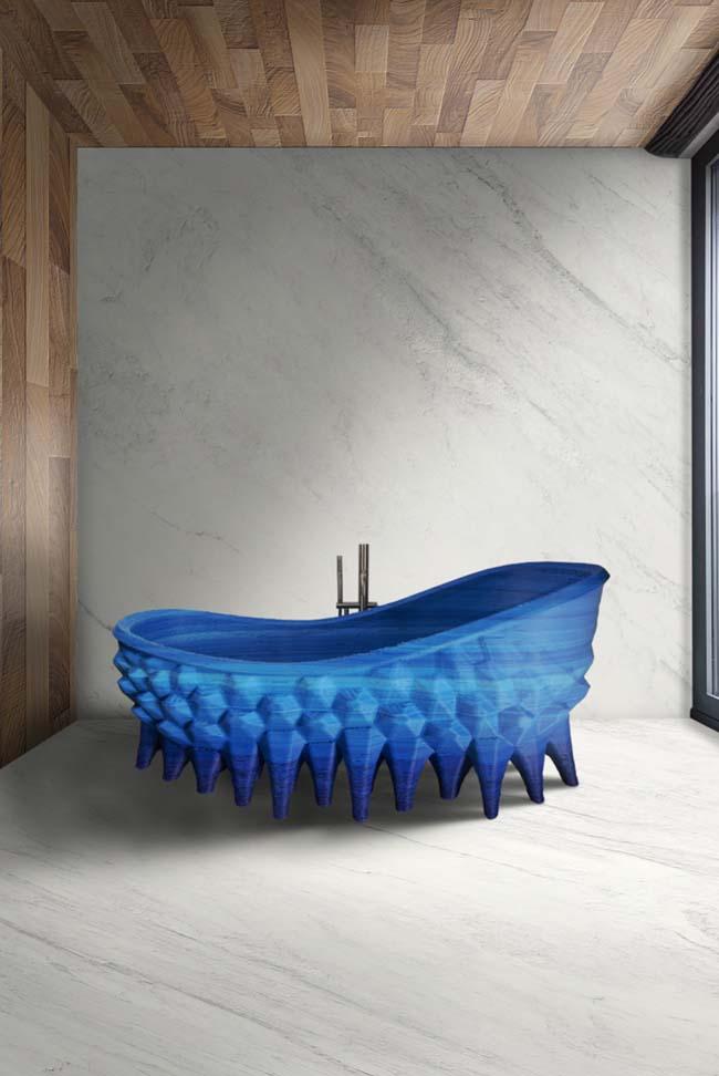Thuis baden in zee