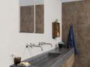 Maatwerk wastafel urban jungle badkamer