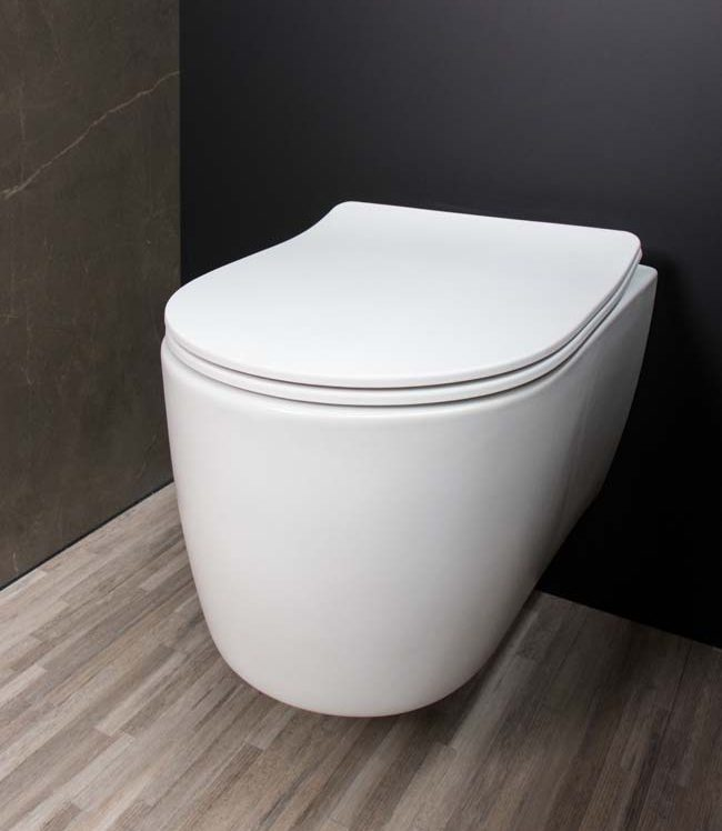 Toilet in matwit en matzwart