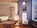 Badkamer in krachtig zwart of vorstelijk paars