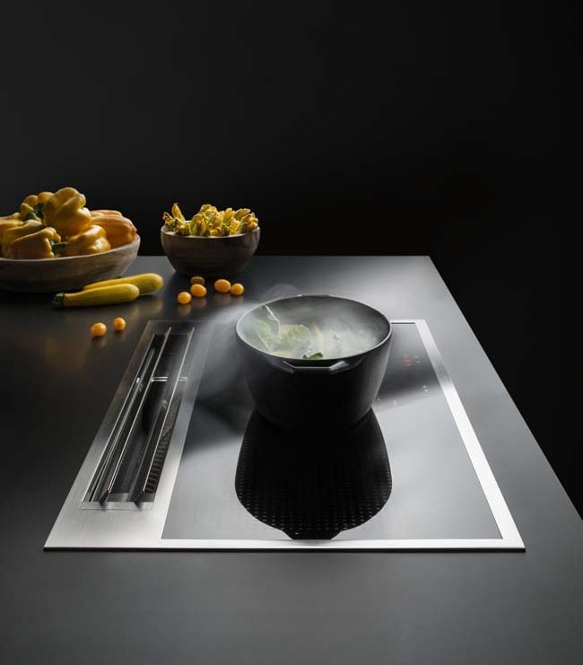 Sintesi panorama kookplaten met geïntegreerde afzuiging
