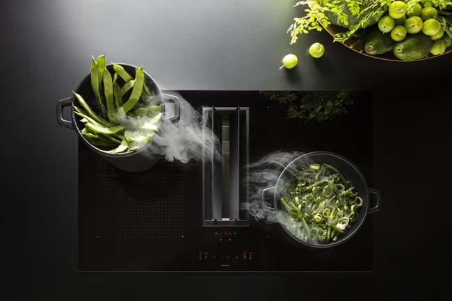 Quantum behoort tot de nieuwe generatie kookplaten met afzuiging