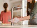 Een touch-free keukenkraan