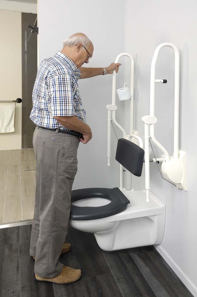 Handicare toiletbeugels bij staand plassen