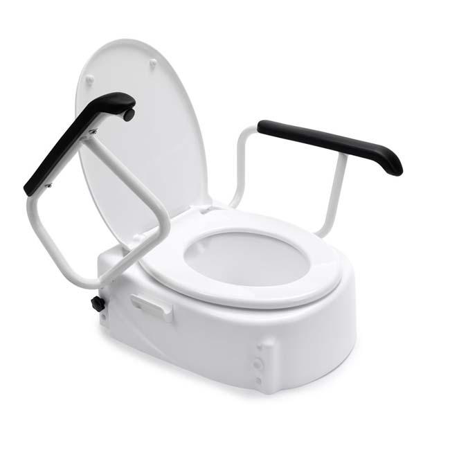 toiletverhoger met leuning