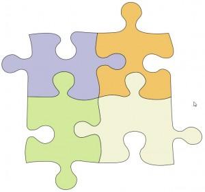 Ondervloer in puzzelstukken