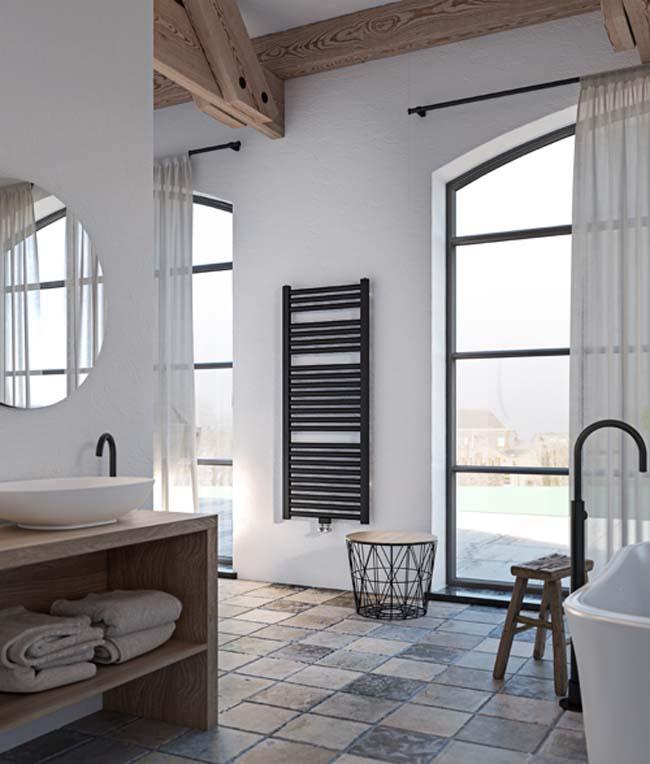 Stijlvolle badkamerradiator Milano ook in elektrische variant