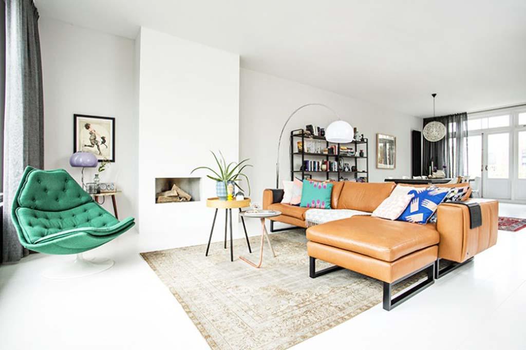 Zo woont style director odette simons voorlichtingsburo for Kleine vierkante woonkamer inrichten