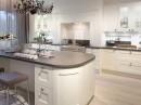 Keuken met ronde vormen
