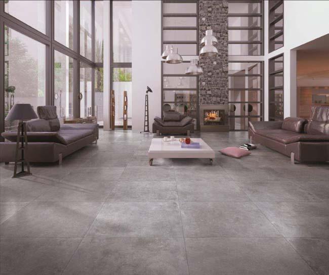 Keramische betonlook tegels voor een industriële uitstraling