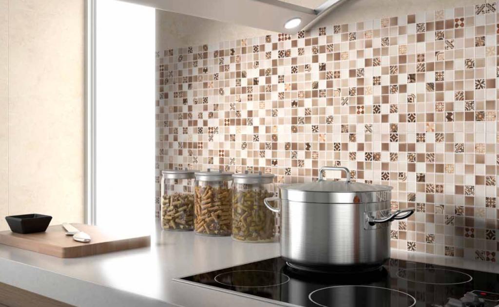 Litica mozaïek tegels als keukenachterwand