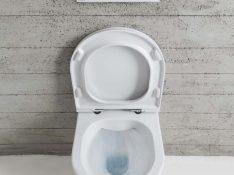 Doorspoeling van randloze toiletten