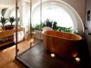 Badkuip van hout