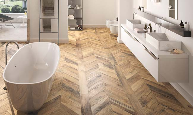 Kan een houten vloer in de badkamer?