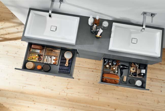 Praktische lade-indeling voor de badkamer - Voorlichtingsburo Wonen