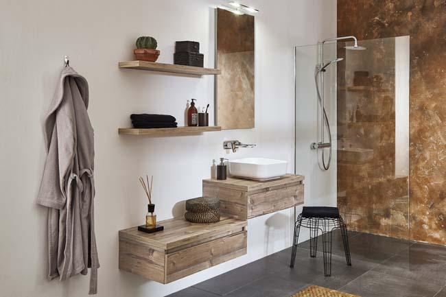 Stoere en robuuste badkamer