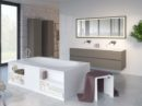 Burgos: vrijstaand bad met opbergruimte