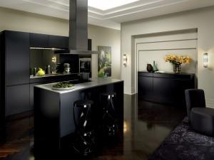 Keukenindeling met bar