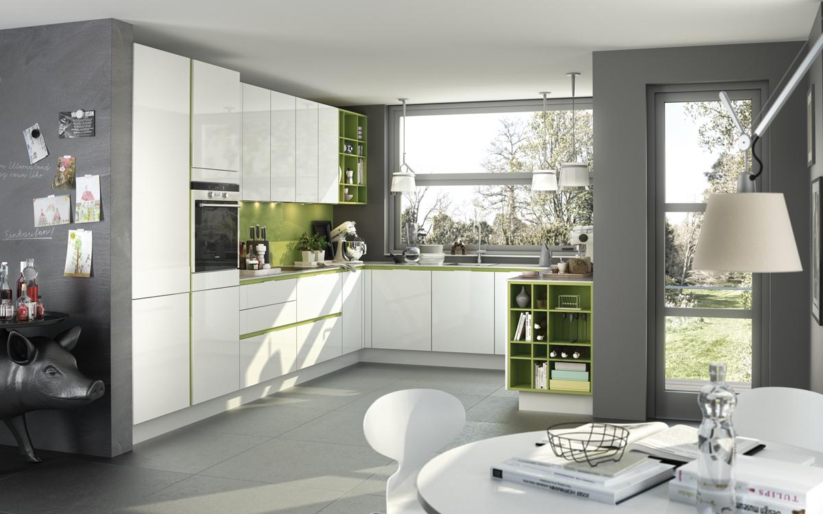 Keuken Olijfgroen : Keuken met olijfgroene accenten