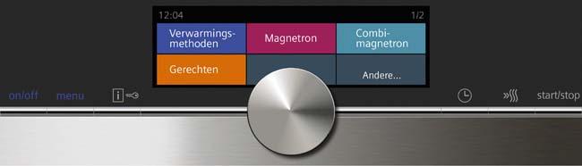 Siemens iQ700 oven menu