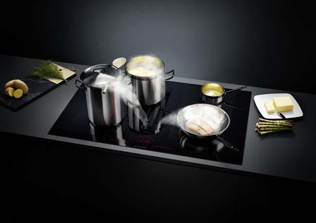 Nieuwe Siemens inductionAir kookplaat met afzuiging