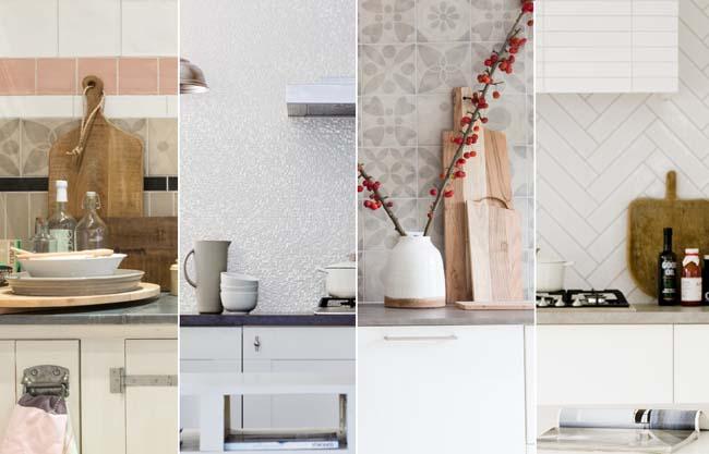 Opvallende keukenachterwand met vtwonen tegels by douglas & jones