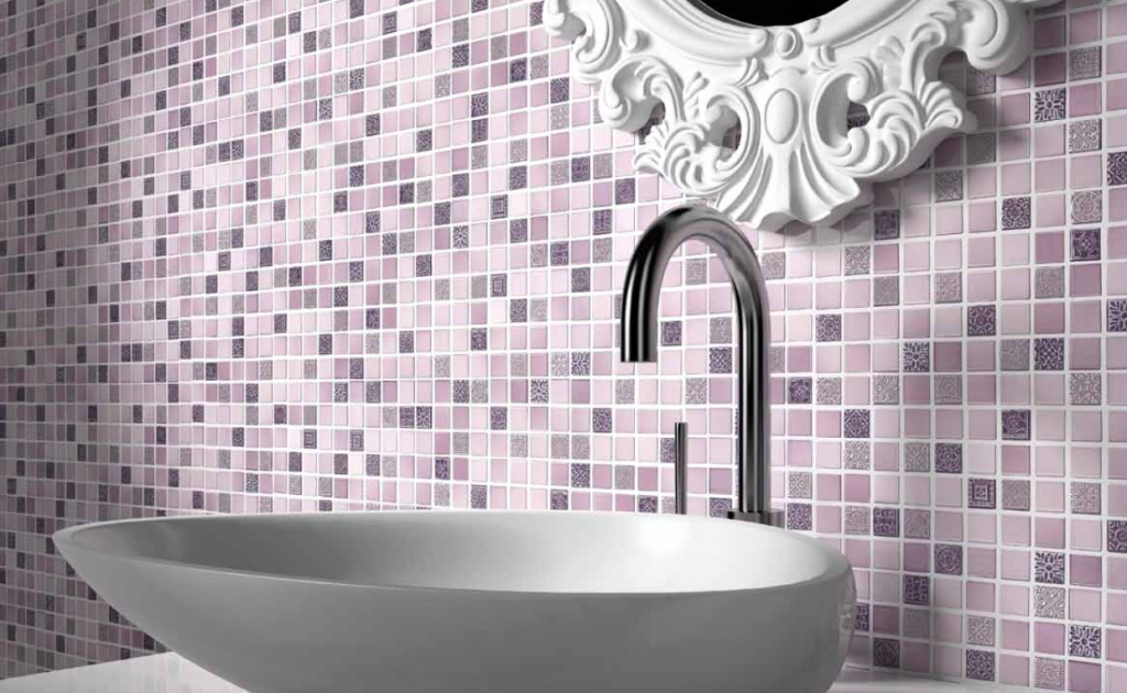 Litica mozaïek tegels in de badkamer