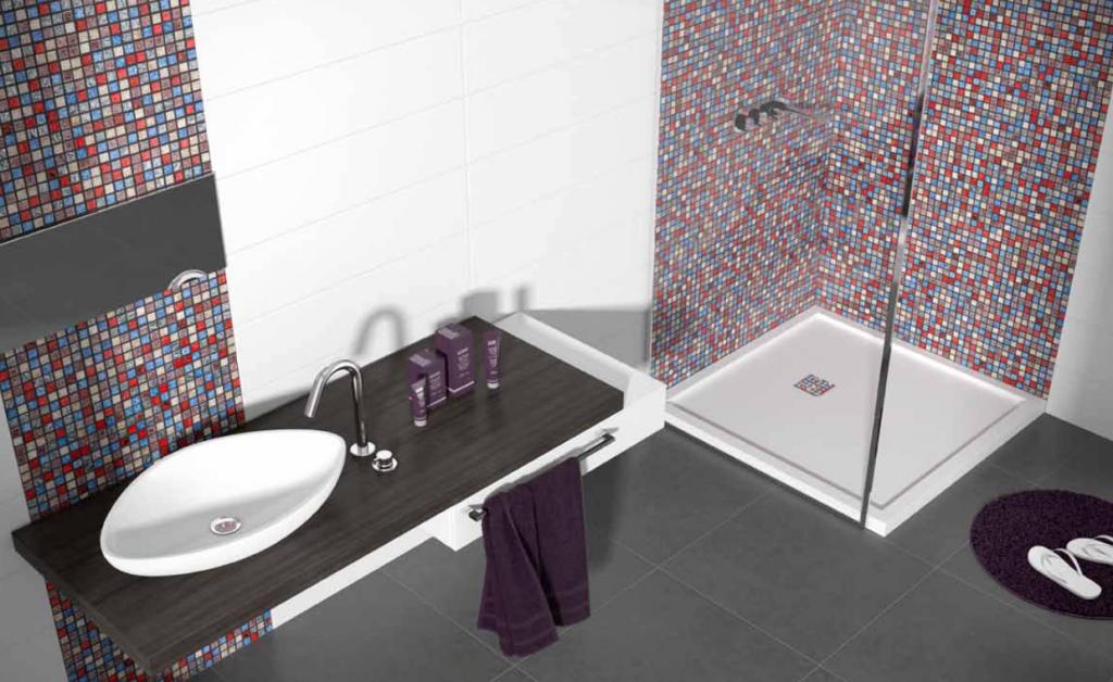 Uitzonderlijk badkamer mozaiek voorbeelden yf