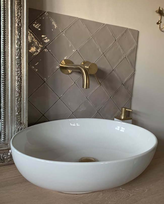 Portotegel voor de badkamer