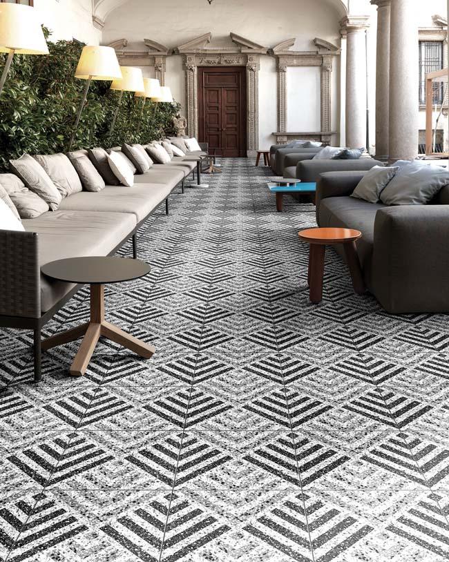 Moderne terrazzo tegels