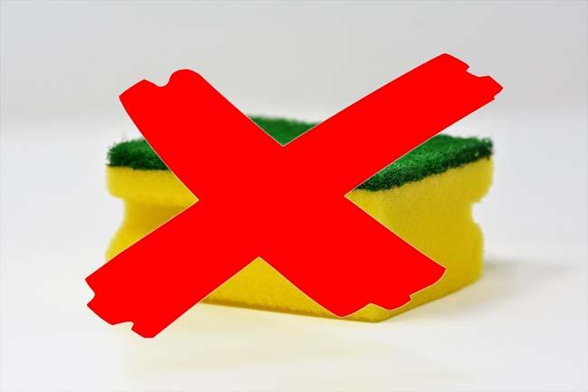 Reiniging inductiekookplaat - niet doen!
