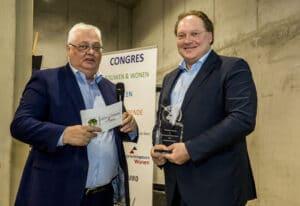 Duurzaamheidsprijs Wonen 2019 voor Erik Eising directeur Faber