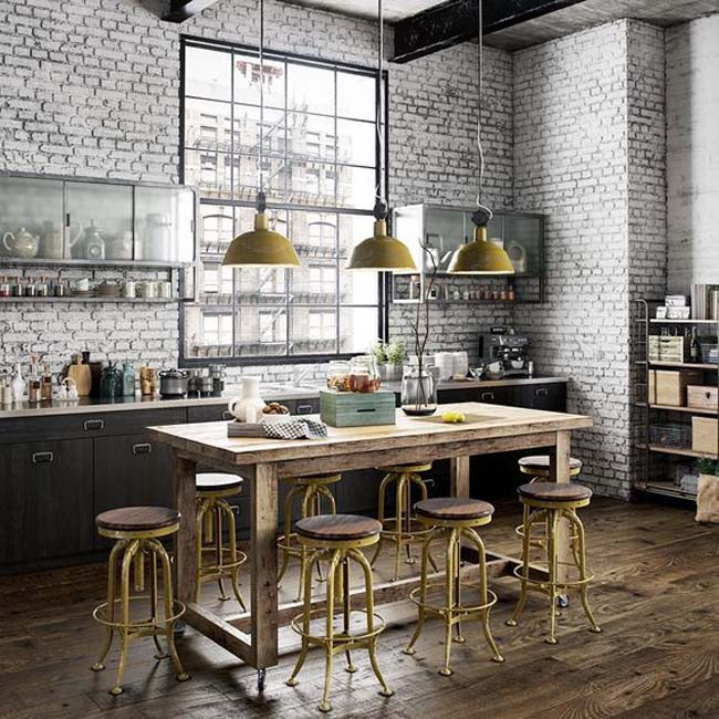 Pinterest: Industriele keuken