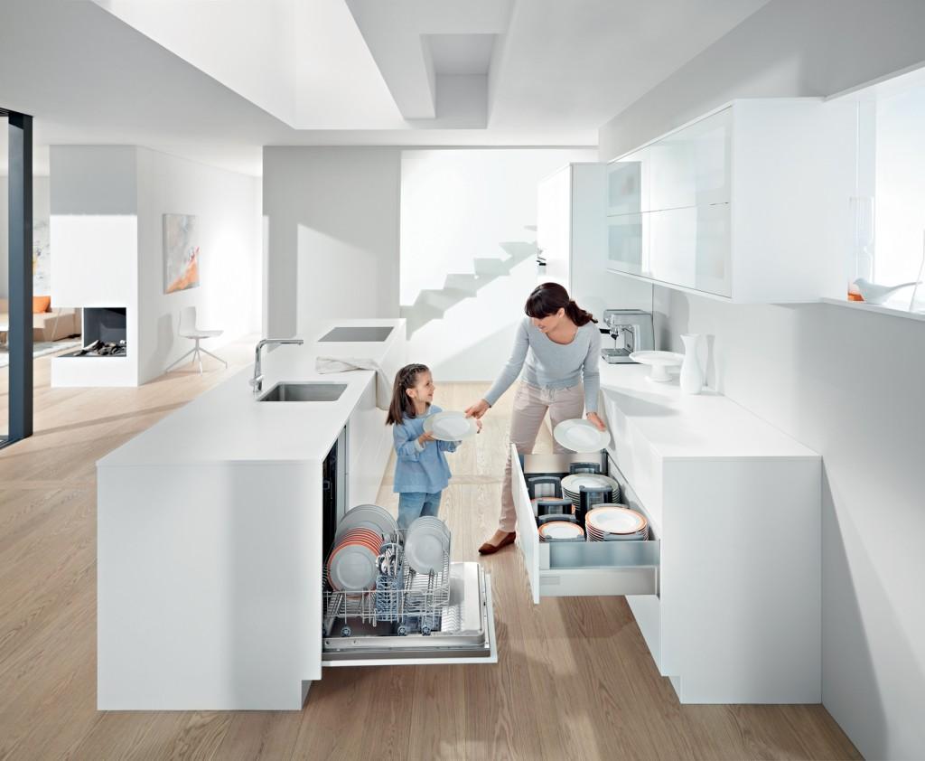Ergonomische keuken: weinig lopen