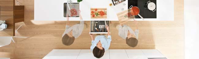 Verschillende zones in de keuken