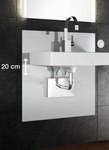 In hoogte verstelbare badkameroplossingen