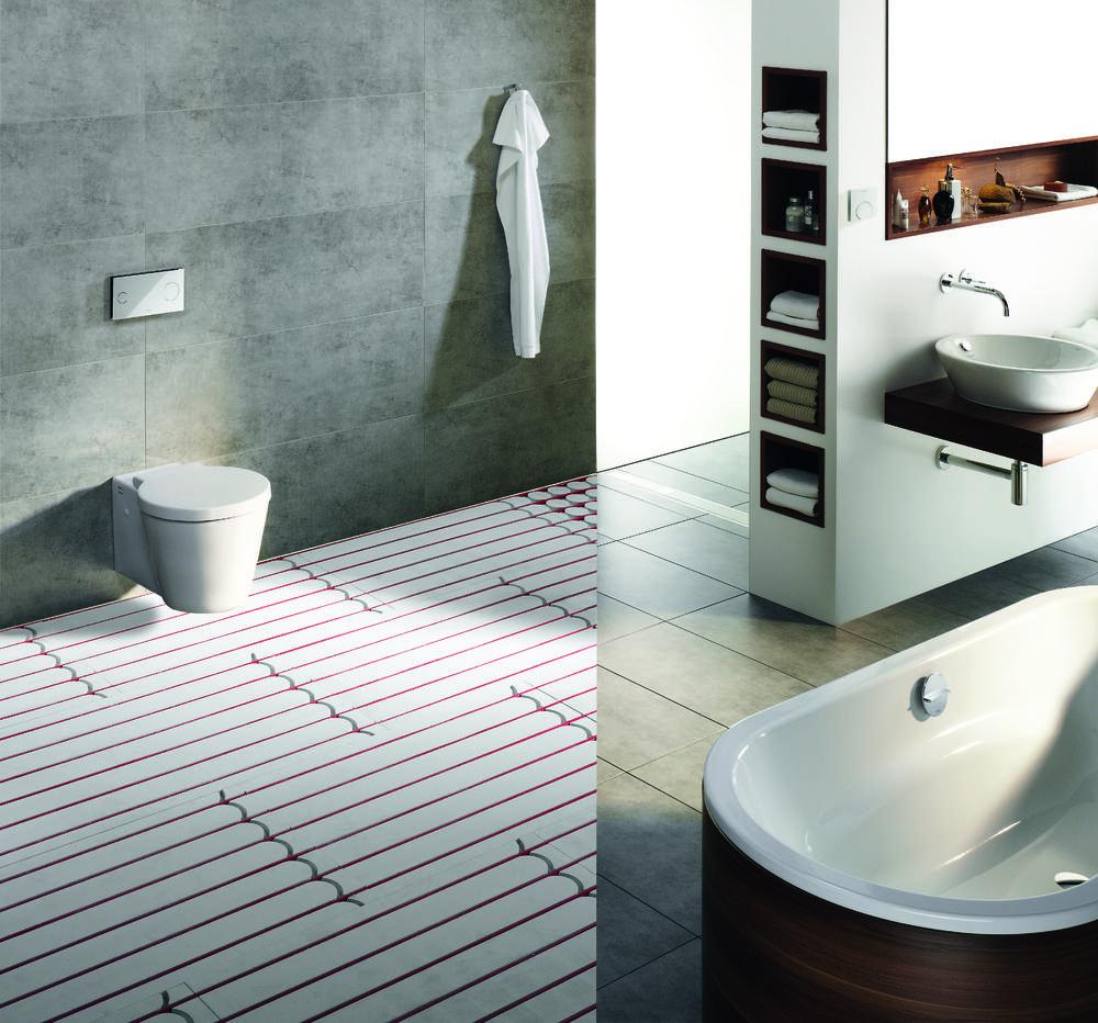 Viega vloerverwarming badkamer