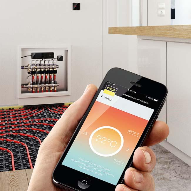 Smart verwarmen met Viega Fonterra Smart Control