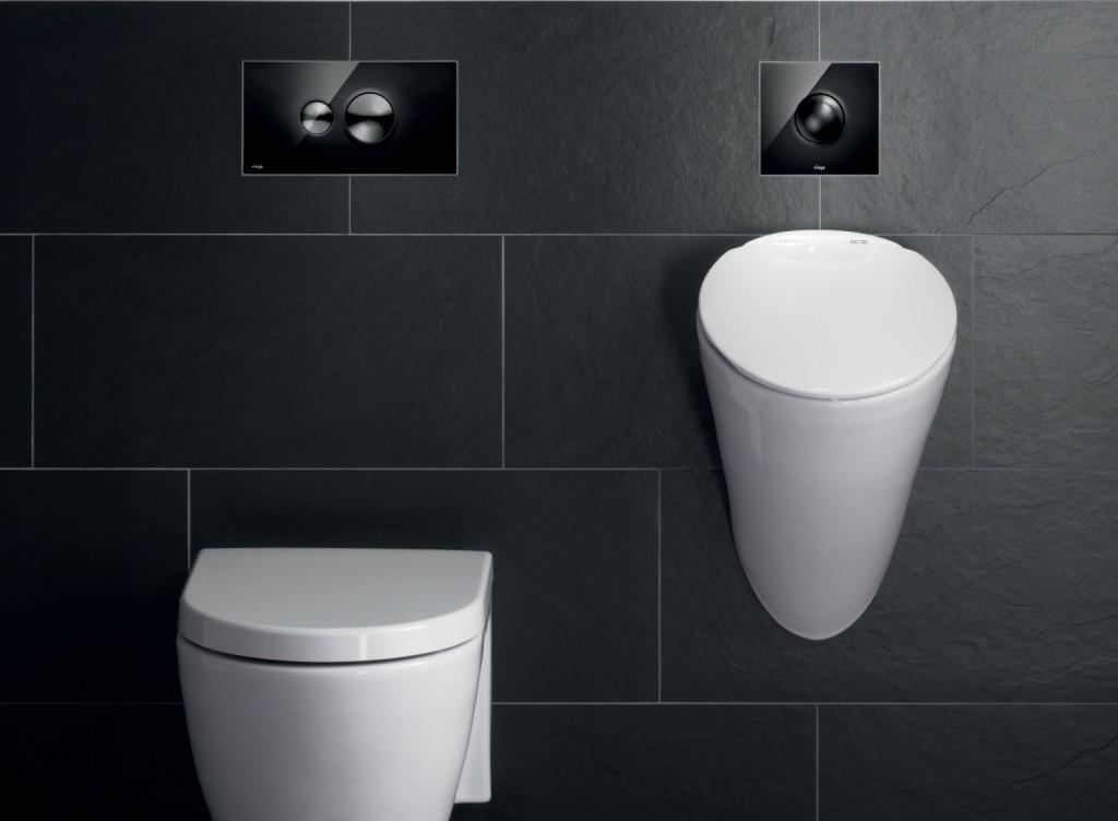 Bedieningsplaat toilet en urinoir