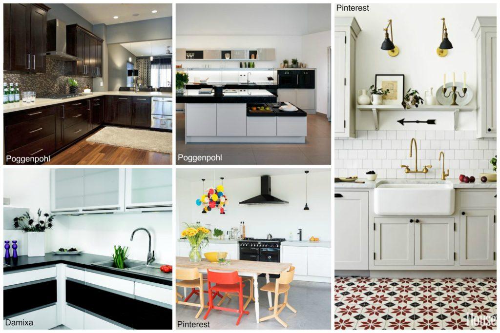 Zwart witte keuken voorlichtingsburo wonen