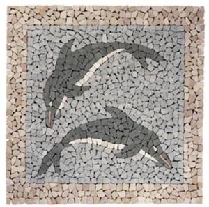 mozaieken met tegels wandrek industrieel